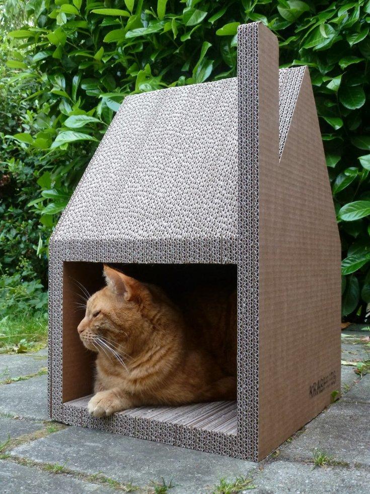 зимний теплый домик для кошки фото чтобы получить охоте