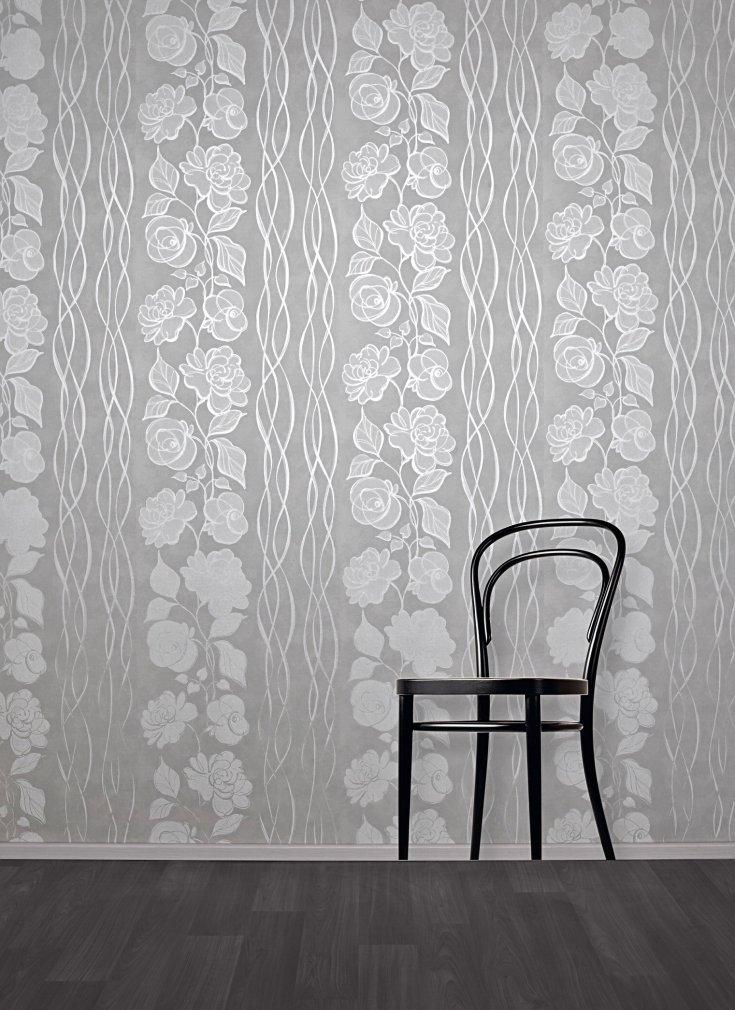 бело серые обои для стен фото много